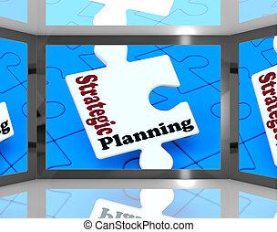 Strategic Planning On Screen Shows Organization