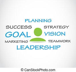 Strategic planning vector background