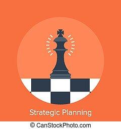 Vector illustration of strategic planning flat design concept.