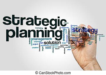 Strategic planning word cloud