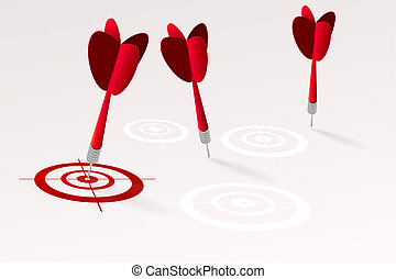 Marketing strategic positioning concept illustration