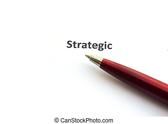 Strategic with pen