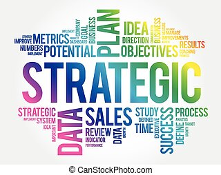 Strategic word cloud concept - Strategic word cloud, ...