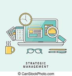 strategico, amministrazione, concetto