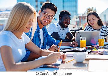 strategico, freelancers, condivisione, idee, squadra