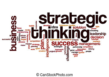 strategiczny, myślenie, słowo, chmura