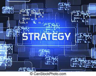 strategie, concept