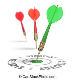 strategie, oder, marketing, geschaeftswelt
