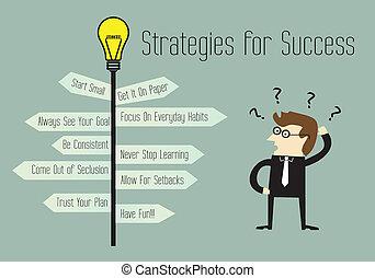 strategie, per, successo