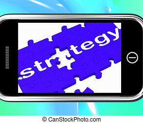 strategie, smartphone, planning, optredens