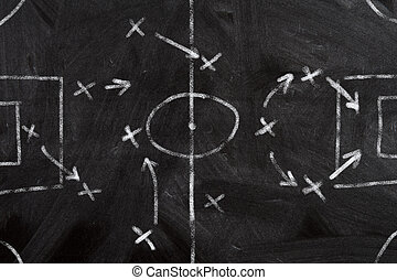 strategie, voetbal, schema