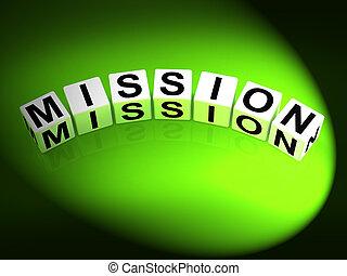 strategien, mission, spielwürfel, ziele, weisen
