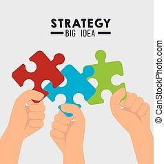 strategische planung, design.