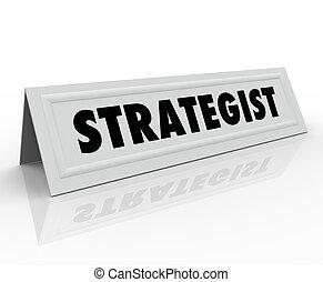 Strategist Name Tent Card Panelist Guest Speaker Consultant...