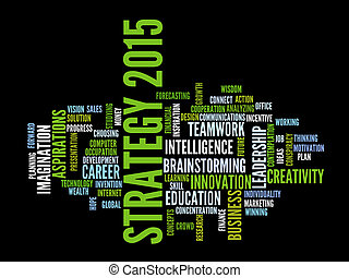 Strategy 2015 word cloud