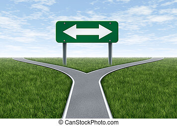 Strategy and planning future direction in life or business...