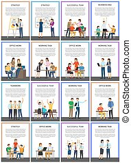 Strategy and Successful Team Vector Illustration