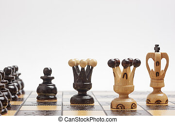 Strategy and tactics in a game of chess