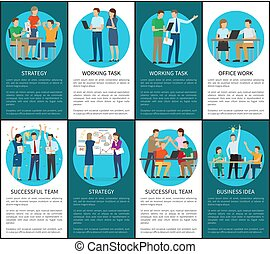 Strategy and Working Task for Business Idea Set