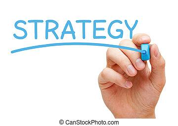 Strategy Blue Marker
