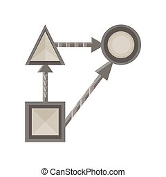Strategy business icon vector planning marketing plan concept background