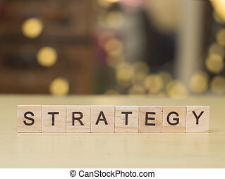 Strategy, Business Words Quotes Concept
