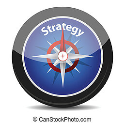 strategy compass concept illustration design over white ...