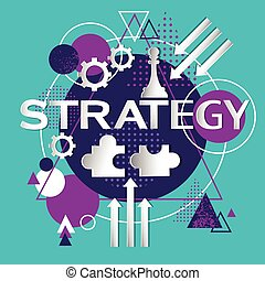 Strategy Concept Business Idea Icon Flat