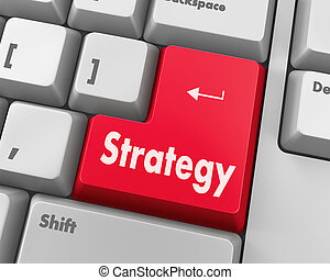 Strategy Concept. Button on Modern Computer Keyboard with ...