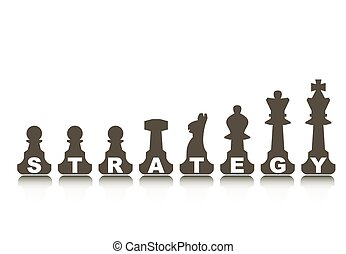 Strategy concept, illustration with abstract chess figure