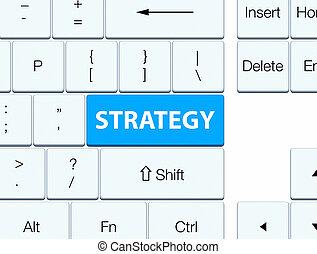 Strategy cyan blue keyboard button