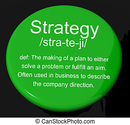 Strategy Definition Button Shows Planning Organization And ...