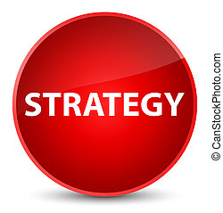 Strategy elegant red round button