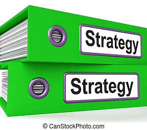 Strategy Folders Show Strategic Planning And Business...