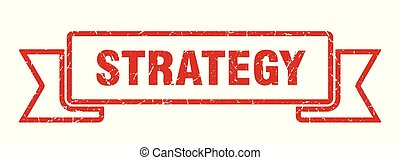 strategy grunge ribbon. strategy sign. strategy banner