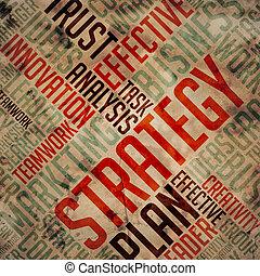 Strategy - Grunge Wordcloud.