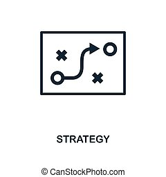 Strategy icon. Monochrome style design from business icon collection. UI. Pixel perfect simple pictogram strategy icon. Web design, apps, software, print usage.