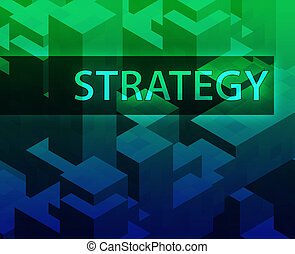 Strategy illustration, management organization structure...
