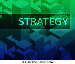 Strategy illustration, management organization structure...