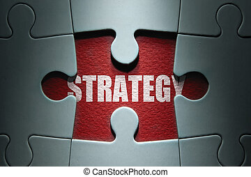 Strategy jigsaw puzzle - Missing piece from a jigsaw puzzle...
