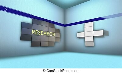 STRATEGY Keywords Animation in Monitor and Room, Rendering, Background, Loop, 4k