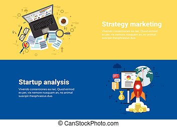 Strategy Marketing Plan, Startup Analysis Financial Business Web Banner