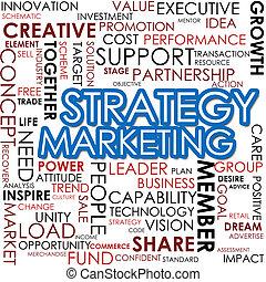 Strategy marketing word cloud