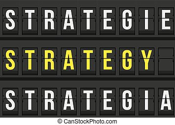 Strategy message on airport timetable