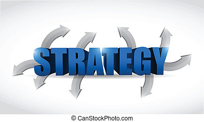 strategy options concept illustration design