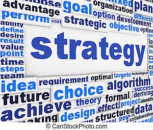 Strategy poster conceptual design