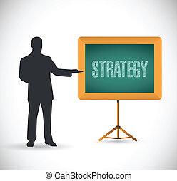 strategy presentation concept illustration