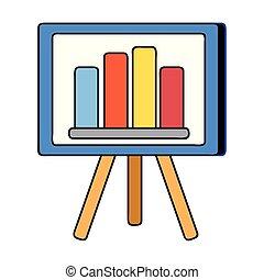strategy presentation with statistics graphic bar