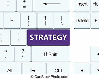 Strategy purple keyboard button