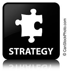 Strategy (puzzle icon) black square button